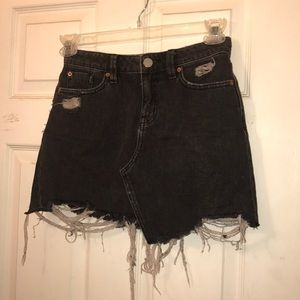 Black denim BDG skirt
